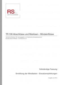 Technische Richtlinie 106 – Abschlüsse und Markisen – Windeinflüsse