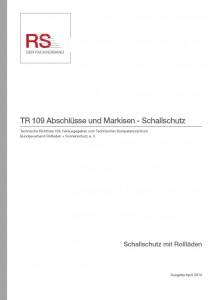 Technische Richtlinie 109 – Abschlüsse und Markisen – Schallschutz