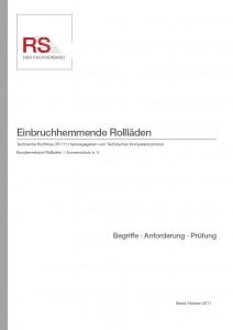 Technische Richtlinie 111 – Einbruchhemmende Rollläden