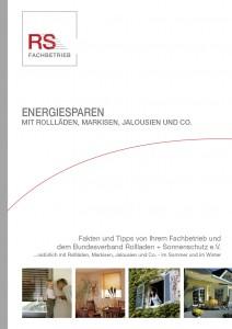 Broschüre Energiesparen mit Rollläden, Jalousien, Markisen & Co.