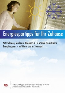 Flyer Energiespartipps