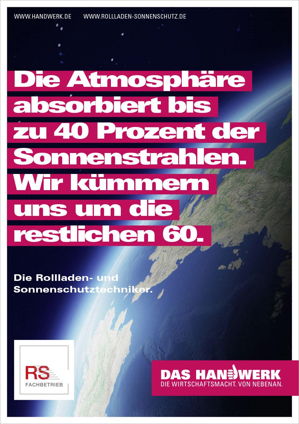 Plakat zur Handwerkskampagne Rollladen- und Sonnenschutztechniker